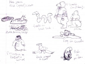 The Featured Naked Animals In Children's Clothes