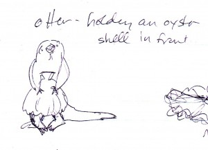 Naked Sea Otter w/ Clam Shell
