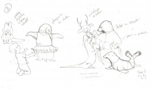 Rough Thumbnail for Page 3 - Sophia Dressing the Animals