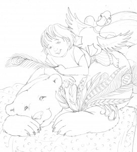 Revised cover idea -2 (with more feathers - polar bear)