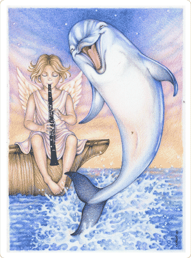 Dancing Dolphin illustration